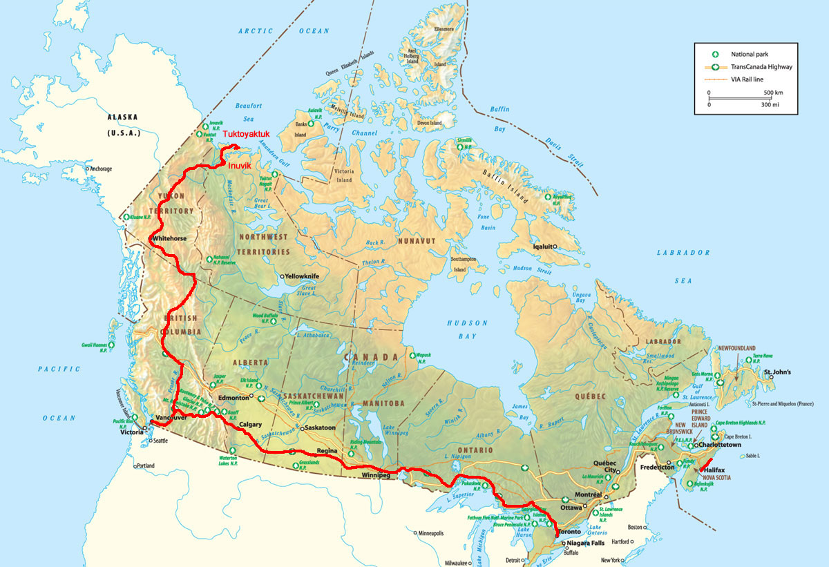 Road Maps Canada