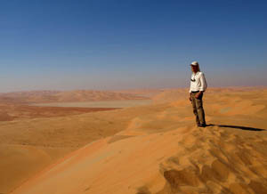 In the Empty Quarter Desert. United Arab Emirates