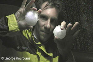 Giant Hail Stones in Texas