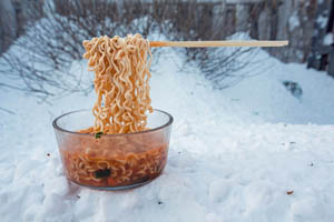 Polar Vortex Cold Snap Creates Gravity-Defying Noodles